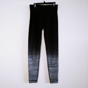 Shosho Women Black Gray Ombre Leggings Small